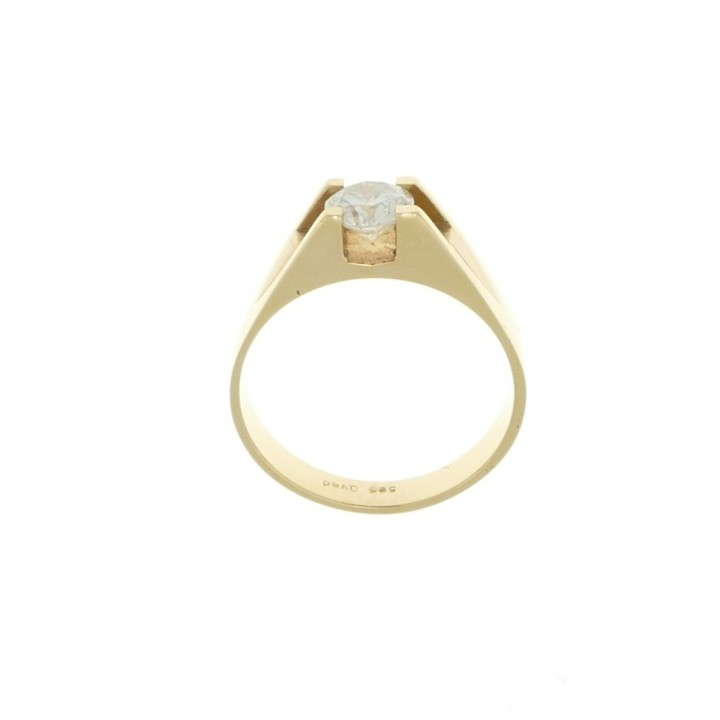 Engagement ring, 14k yellow gold with diamond