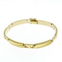 Золотой браслет, желтое золото, длина 20 см