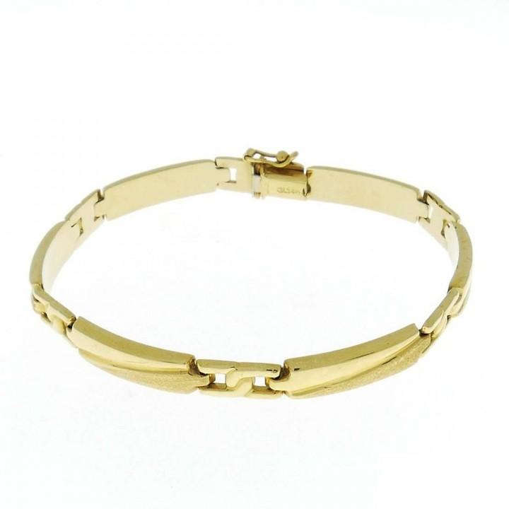 Gold bracelet, yellow gold, length 20 cm