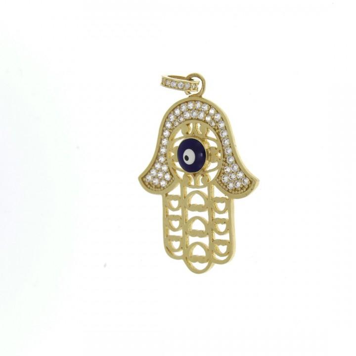 Gold pendant - hamsa (Fatima`s hand), yellow gold, weight 4.68 g
