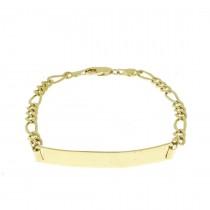 Золотой браслет, желтое золото, длина 19 см