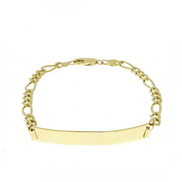 Gold bracelet, yellow gold,  length 19 cm