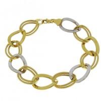 Золотой браслет, желтое и белое золото, вес 9,26 грамма