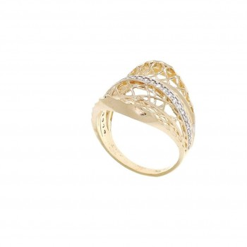 Ring for women, 14 ct red gold