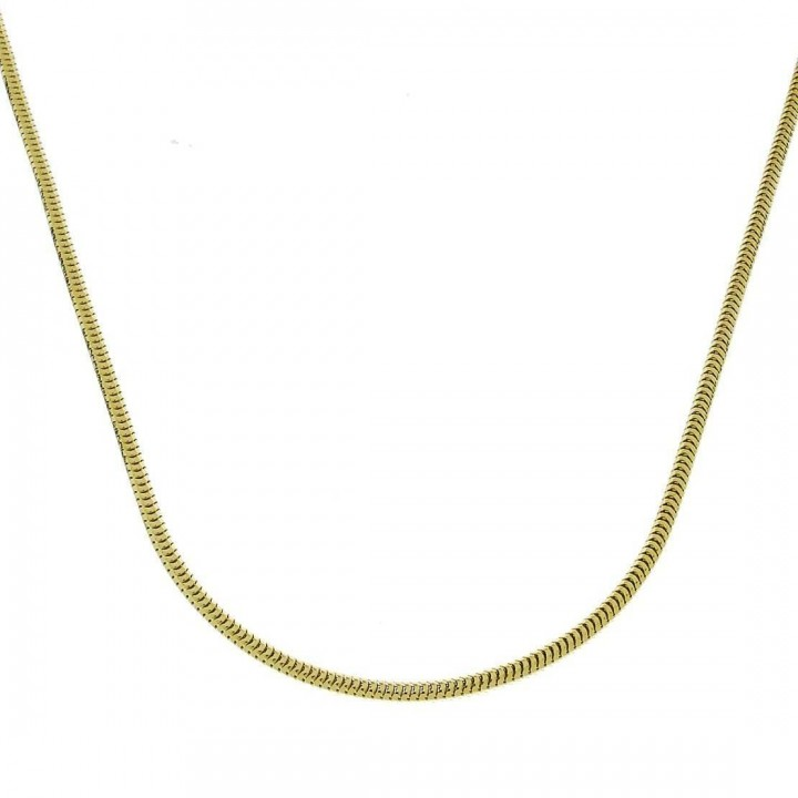 Chain for woman, yellow gold, length 48 cm