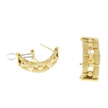Earrings for a woman, yellow gold, 14K