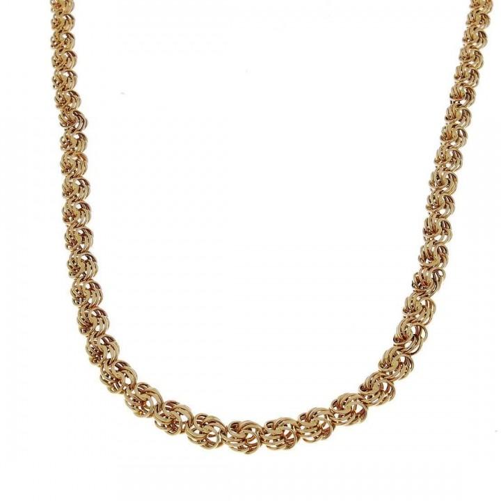 Цепочка для женщины Бисмарк, красное золото, длина 49 см
