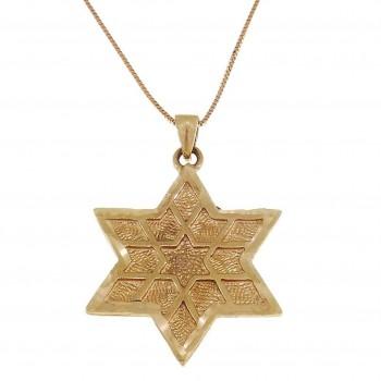 Золотая подвеска - звезда Давида, красное золото, вес 2,38 грамма