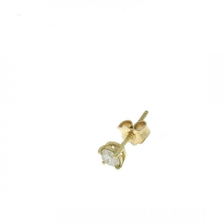Gold earring for men with diamond, weight 0.47 grams