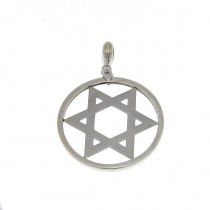 Gold pendant - star of David, white gold, weight 7.93 gram