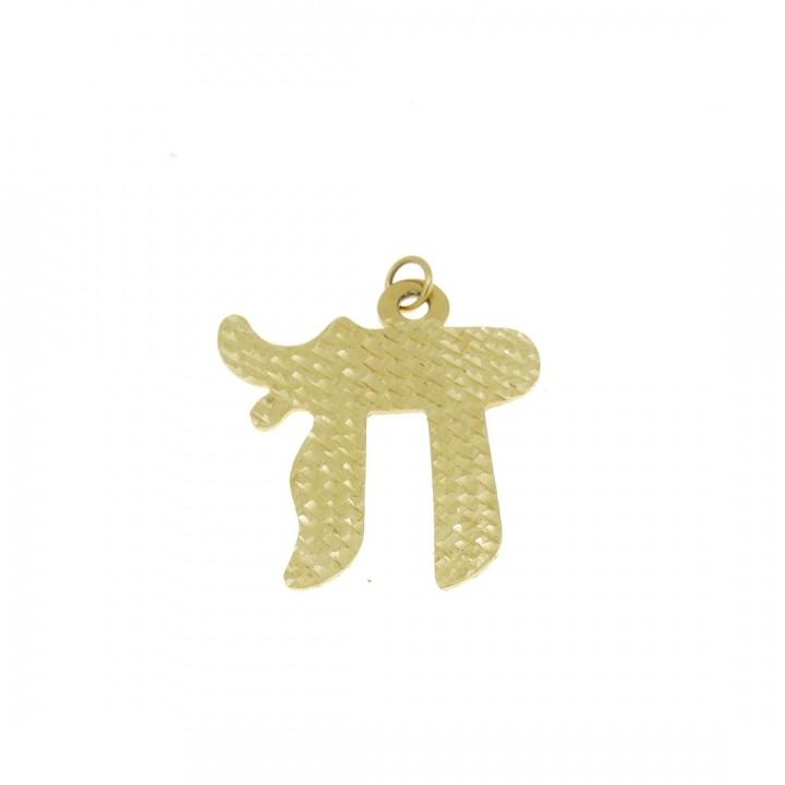 Золотая подвеска - символ удачи, желтое золото, вес 3,65 грамм