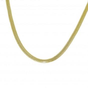Цепочка для женщины, желтое золото, длина 49 см