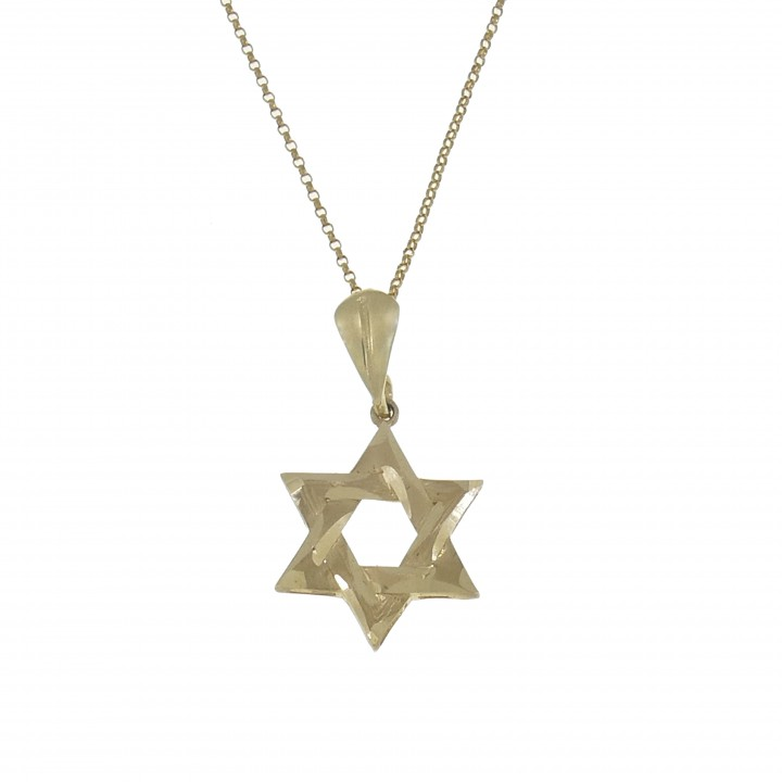 Звезда Давида жёлтое золото