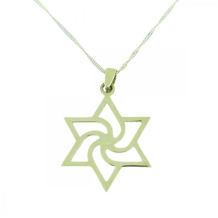 Gold pendant - star of David, yellow gold