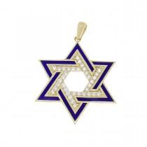 """תליון - מגן דוד, זהב צהוב 585, אורך - 3.5 ס""""מ"""