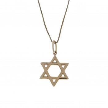 Звезда Давида, красное золото 14 карат