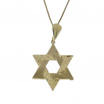 Звезда Давида, жёлтое золото 14 карат