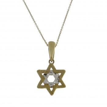 Золотая подвеска - звезда Давида, желтое золото