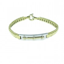 Bracelet for men, white and yellow gold
