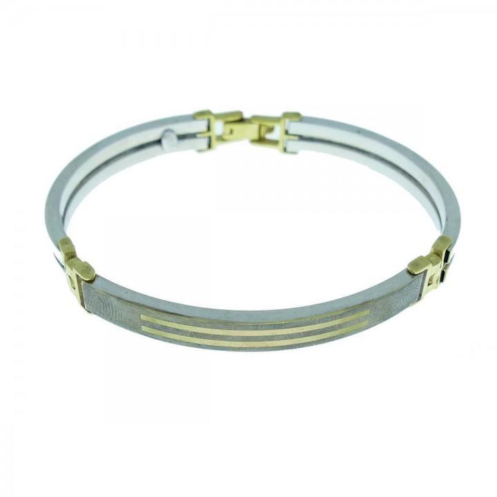 Браслет для мужчины, белое золото 14 карат, диаметр 7 см