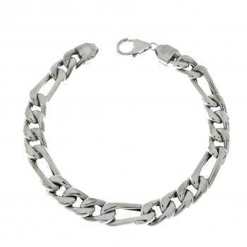 Bracelet for a man, 14K white gold, length 21 cm