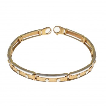 Bracelet for a man, red gold, length 20.5 cm