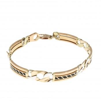 Bracelet for a man, red gold, length 21.5 cm
