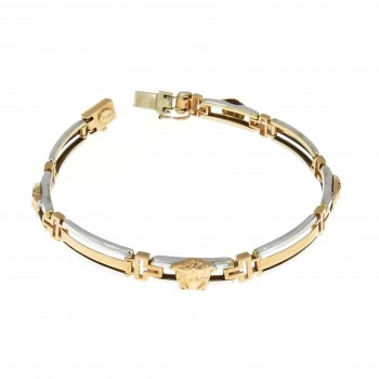 Bracelet for a man, red gold, length 21 cm