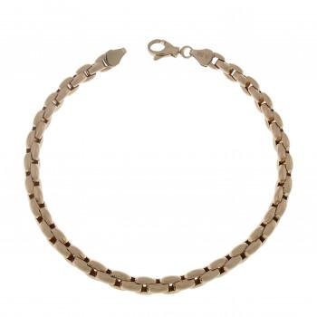 Men's bracelet, 14 k red gold, length 22 cm