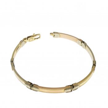 Men's bracelet, 14K yellow and red gold, length 19 cm