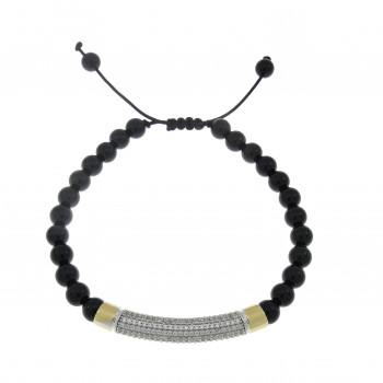 Men's bracelet, 14K yellow gold, diameter 9 cm