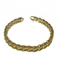 Золотой браслет, желтое золото, длина 19.5 см