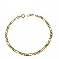 Браслет для мужчины, желтое золото 14 карат, длина 19.5 см