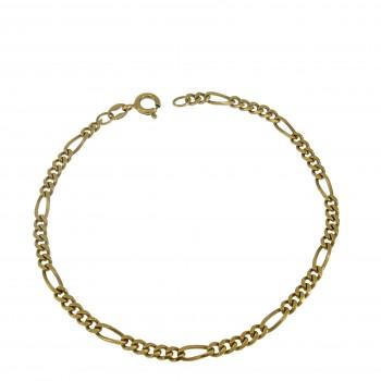 Men's bracelet, 14K yellow gold, length 19.5 cm