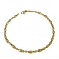 Браслет для мужчины, желтое золото 14 k,  длина 24.5 см