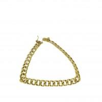 Браслет для мужчины, желтое золото 14 карат, длина 19 см