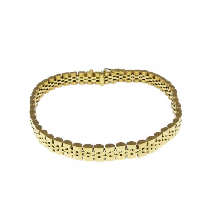 Браслет для мужчины, желтое золото, длина 19 см