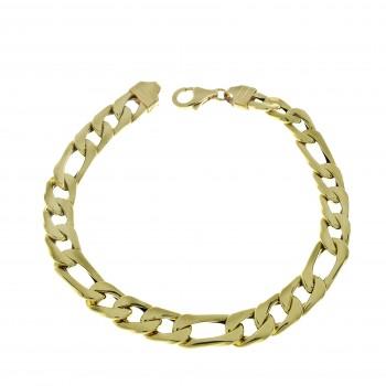 Bracelet for a man, 14K yellow gold, length 20.5 cm