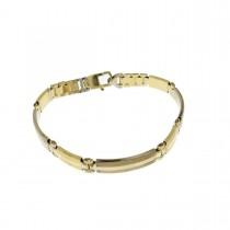 Bracelet for men, 14k yellow gold, length 20.5 cm