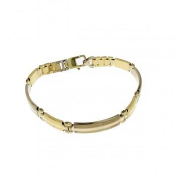 Men's bracelet, 14k yellow gold, length 20.5 cm