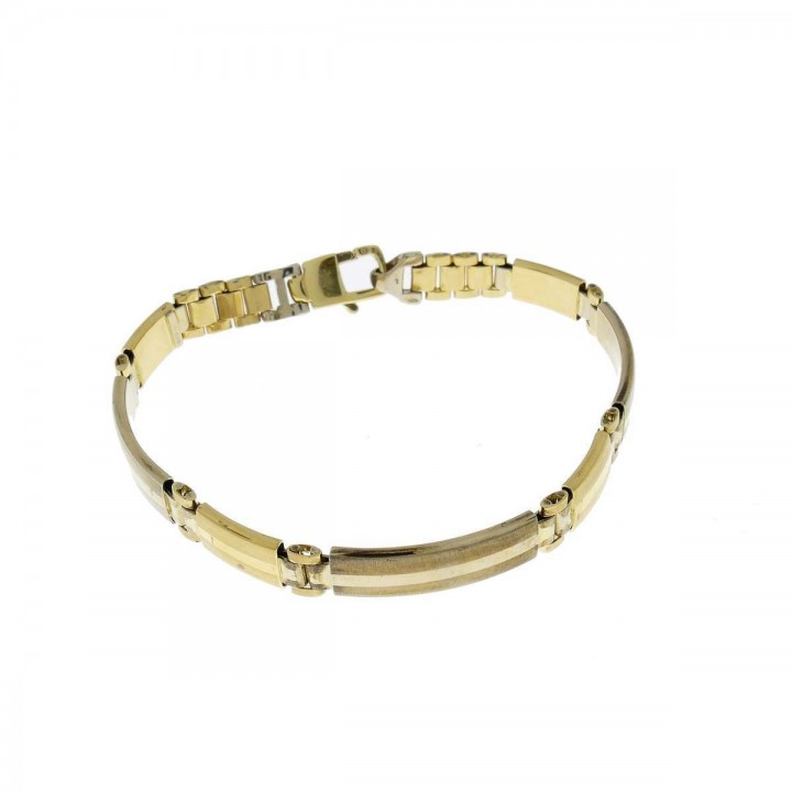Bracelet for men, 14k yellow gold, length 20.5 cm