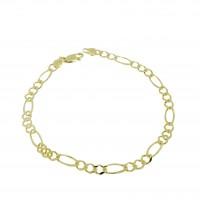 Браслет для мужчины, желтое золото 14 k,  длина 20 см