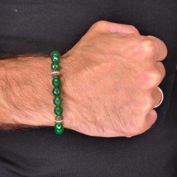 Men's bracelet, 14K yellow gold, diameter 7 cm