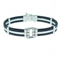 Bracelet for a man, 14K white gold, diameter 7 cm