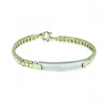 Bracelet for a man, 14K white and yellow gold, diameter 6 cm