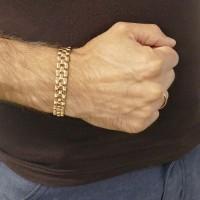 Браслет для мужчины, красное золото, длина 23 см