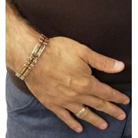 Браслет для мужчины, красное золото, длина 21.5 см