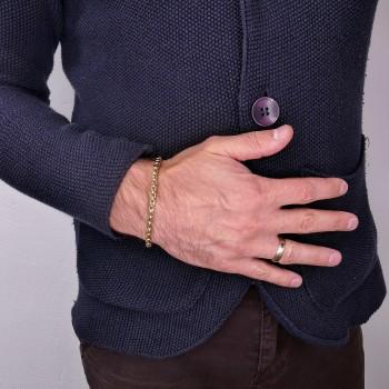 Bracelet for a man, 14K yellow gold, length 19 cm