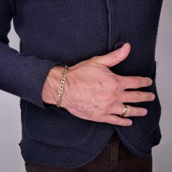 Bracelet for a man, 14K yellow gold, length 19.5 cm