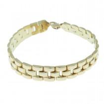 Bracelet for a man, red gold, length 23 cm